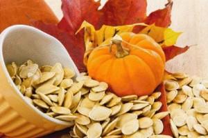 Calabaza y semillas calabaza