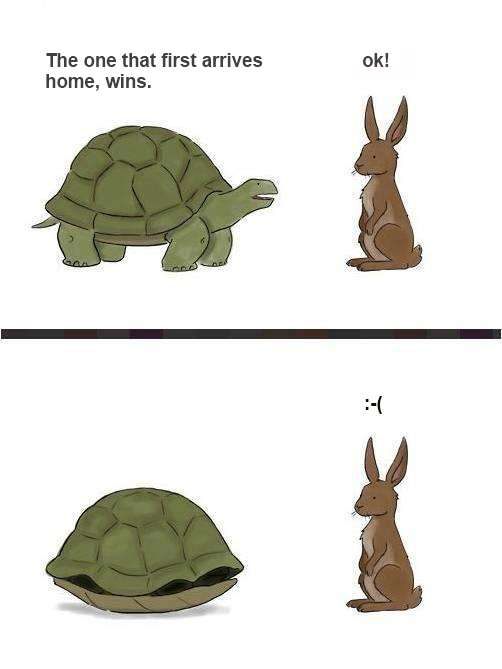 The Rabbit and the Turtle fable